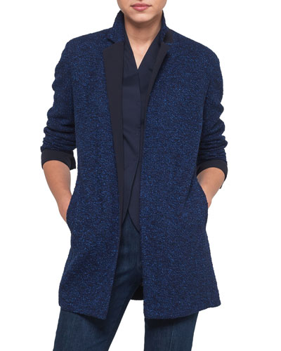Akris Boucle Tweed Long Jacket