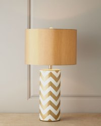 Gold Chevron Lamp