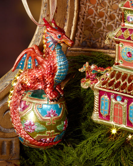 Jay Strongwater Dragon Christmas Ornament