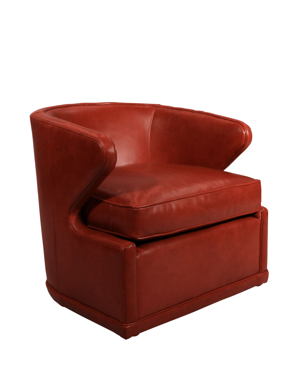 Red Leather Swivel Chair Dyna St Clair Red Leather Swivel Chair
