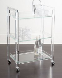 Interlude Home Masae Acrylic Bar Cart | Neiman Marcus