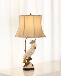 John-Richard Collection White Parrot Accent Lamp