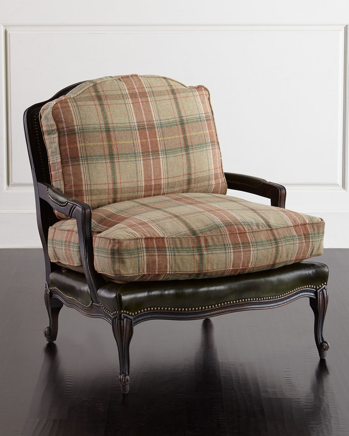 sofas under 100 pounds green vintage sofa old hickory tannery gideon bergere chair neiman marcus