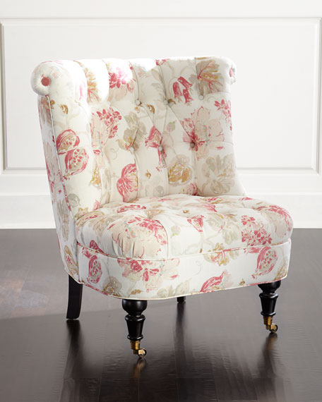 harlow cuddle chair standing desk chairs uk dusty rose tufted | neiman marcus