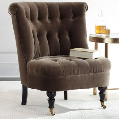 Velvet Tufted Chair Foldable Dining Table And Chairs Neala Neiman Marcus Image 1 Of 3