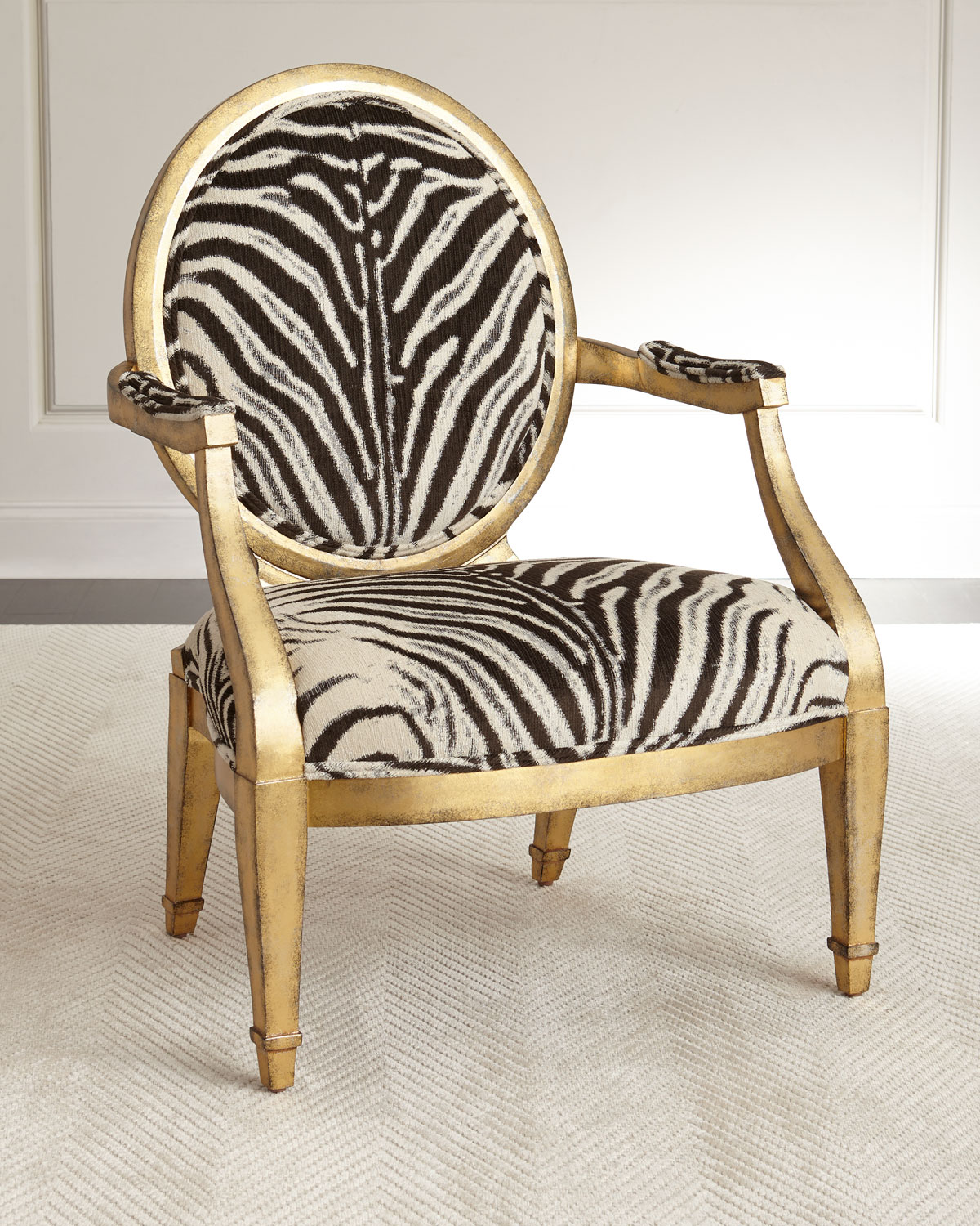 Zebra Accent Chair Marlon Zebra Print Accent Chair Neiman Marcus