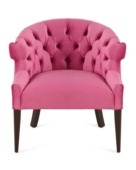 Haute House Melina TuftedBack Chair Pink