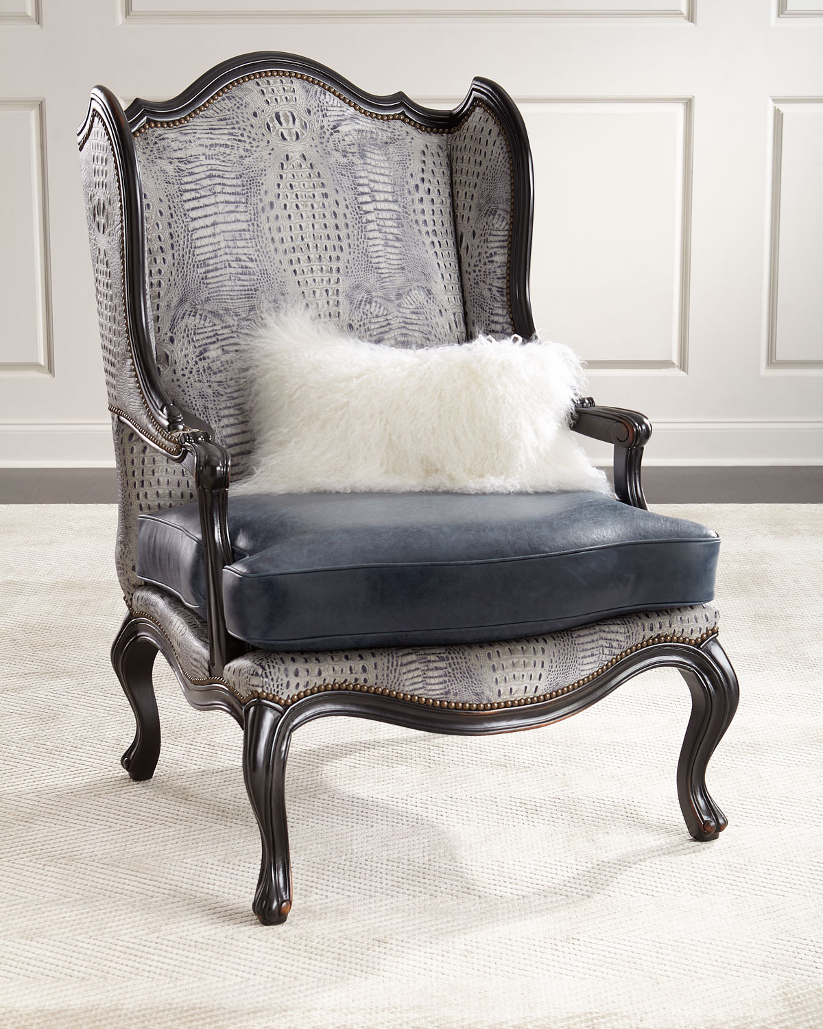 leather wingback chairs gliding chair with ottoman massoud beth neiman marcus massoudbeth