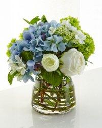 NDI Hydrangea Rose Faux-Floral Arrangement | Neiman Marcus