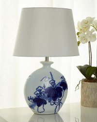 Bird Lamp, Blue/White | Neiman Marcus