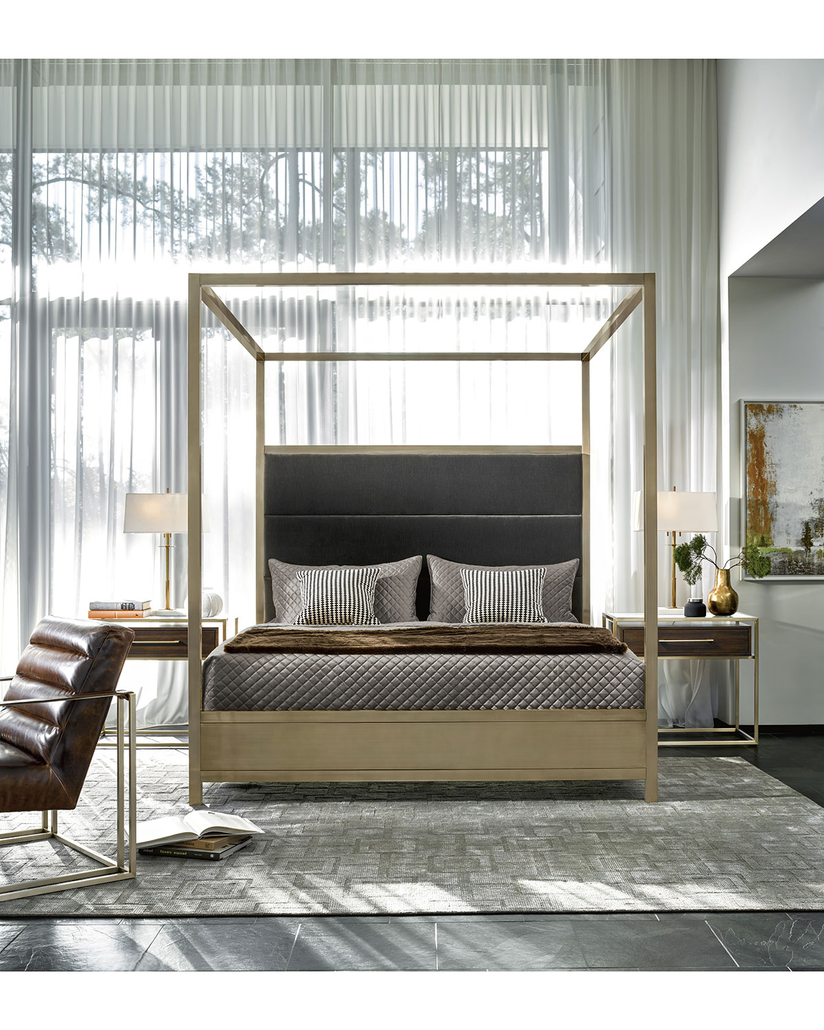 Coast California King Canopy Bed