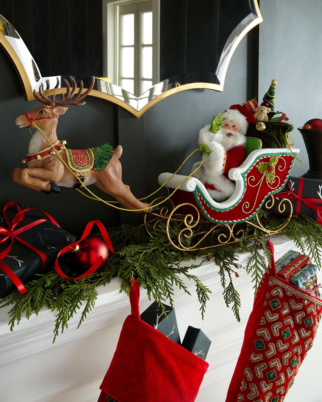 Katherine S Collection Santa S Sleigh Amp Reindeer Tabletop