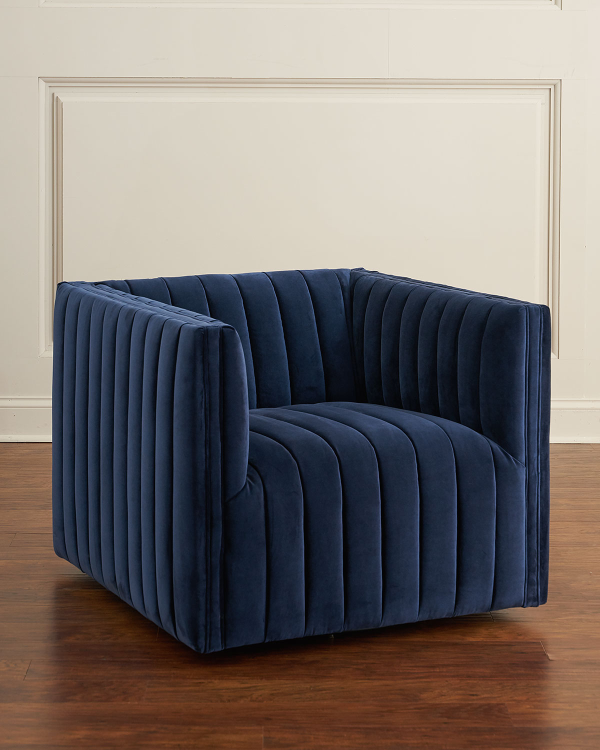 swivel cuddle chair york wooden chairs with arms buxton channel tufted neiman marcus