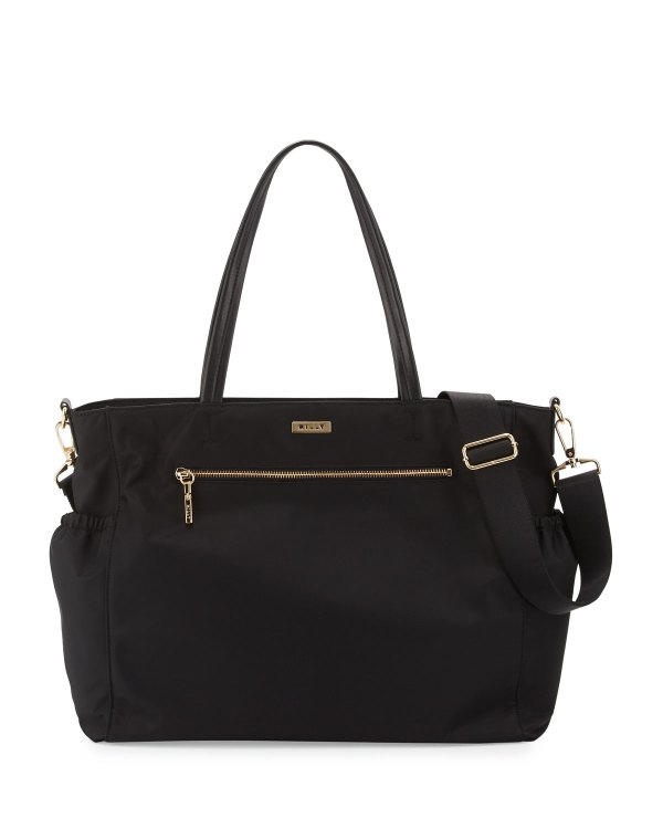 Milly Minis Solid Diaper Bag Black Neiman Marcus