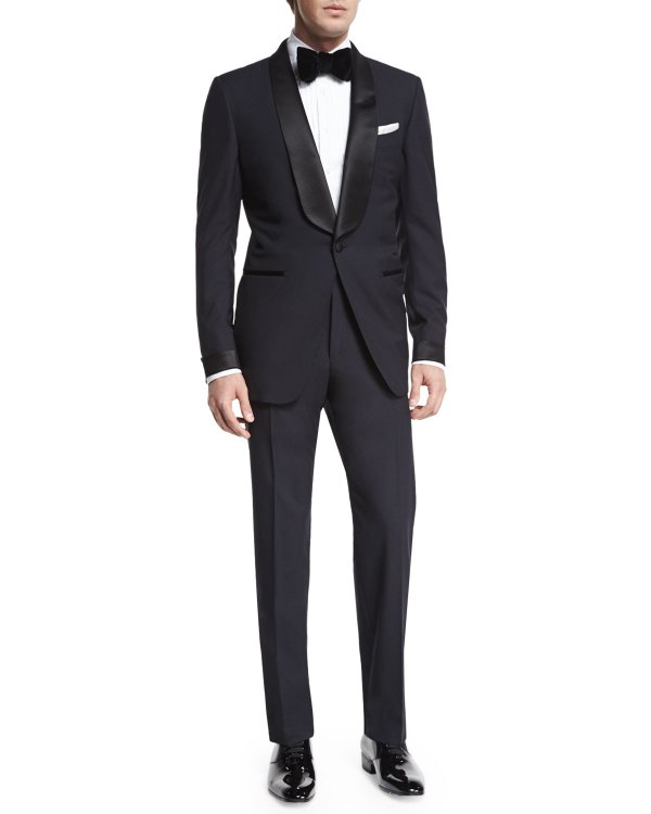 Tom Ford 'connor Base Shawl-collar Tuxedo Navy Neiman Marcus
