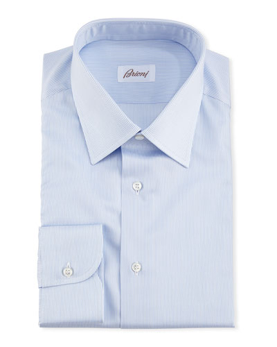 Brioni Micro-Stripe Dress Shirt