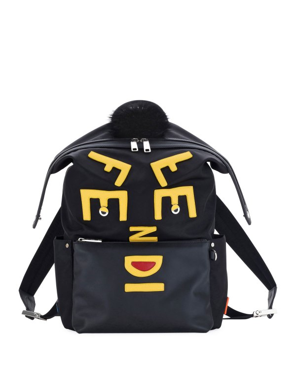 c23d524f024 Fendi Vocabulary Faces Leather Backpack Neiman Marcus - Year of ...