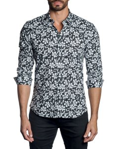 Men   modern fit floral long sleeve shirt also jared lang neiman marcus rh neimanmarcus