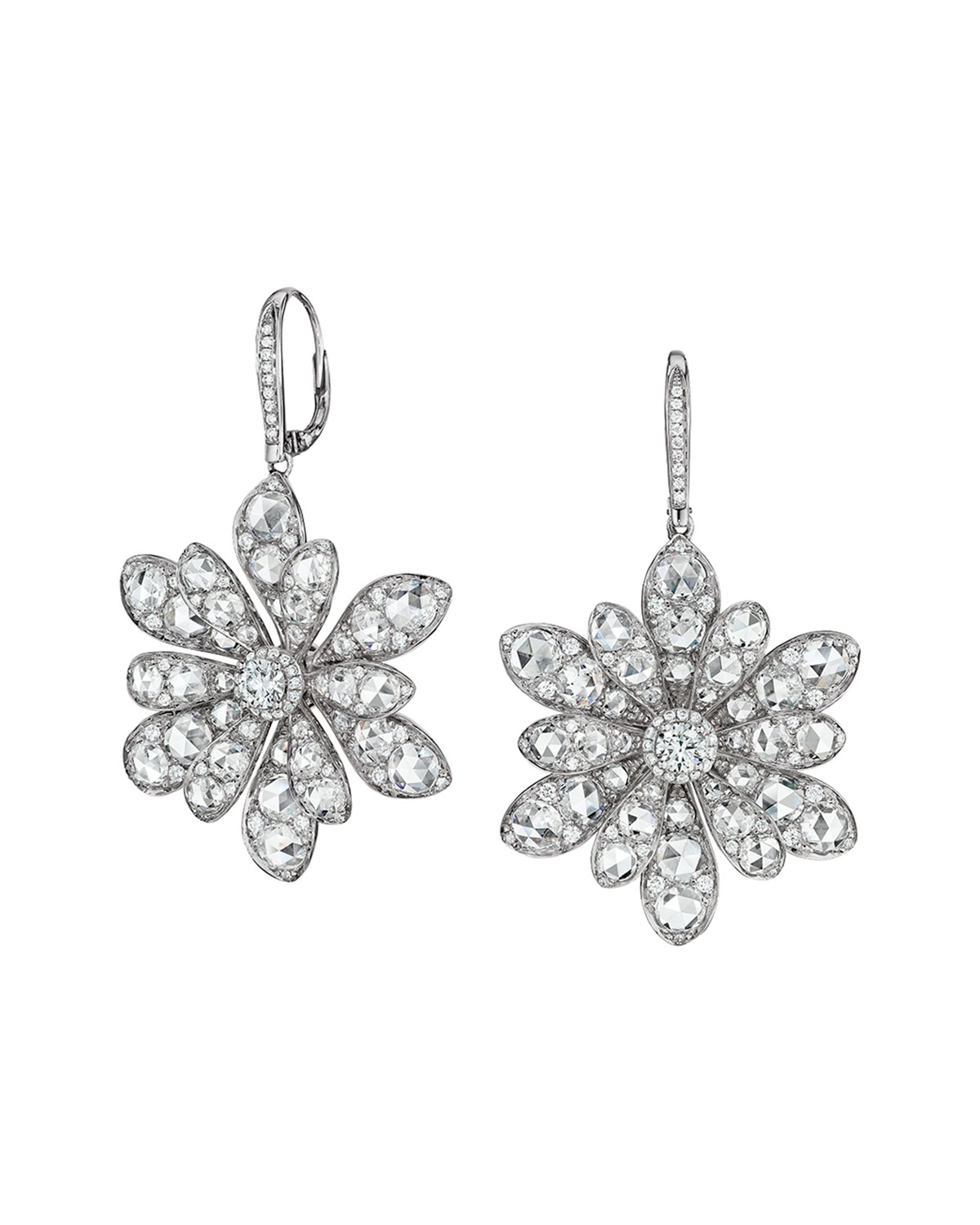 Maria Canale 18k White Gold Round and Rose-Cut Diamond