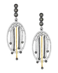 COOMI Spring Tricolor Earrings with Diamonds | Neiman Marcus