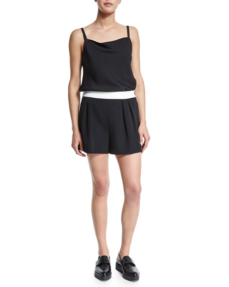 Spandex Camisole And Lace Square