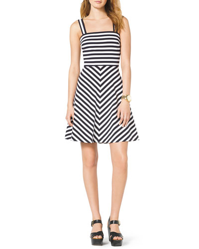 MICHAEL Michael Kors  Striped Ponte Dress