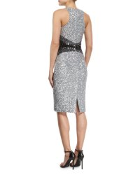 Pamella Roland Sleeveless Embellished Cocktail Dress