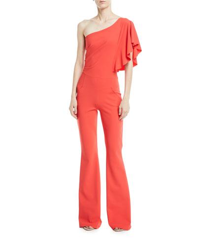 Chiara Boni La Petite Robe Sistine One-Shoulder Five-Pocket Jumpsuit