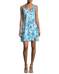 Tommy Bahama Loop-Strap A-Line Sun Dress | Neiman Marcus