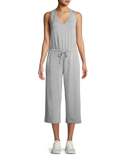 Beyond Yoga Farrah Scoop-Neck Sleeveless Wide-Leg Cropped Jumpsuit