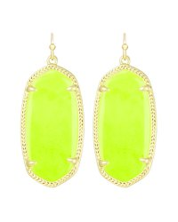 Kendra Scott Elle Earrings, Neon Yellow