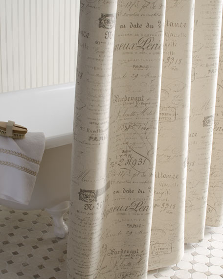 """French Laundry Home """"French Script"""" Shower Curtain"""