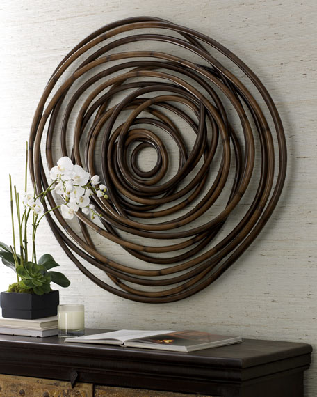 Palecek Wood Swirl Wall Decor  Neiman Marcus