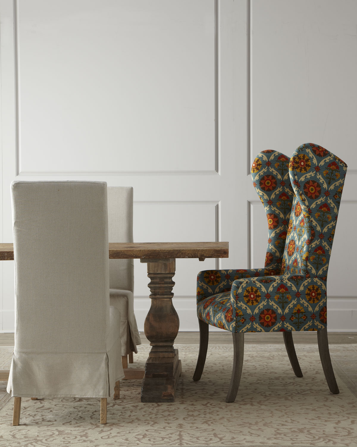 Dining Room Upholstered Chairs Natural Dining Table