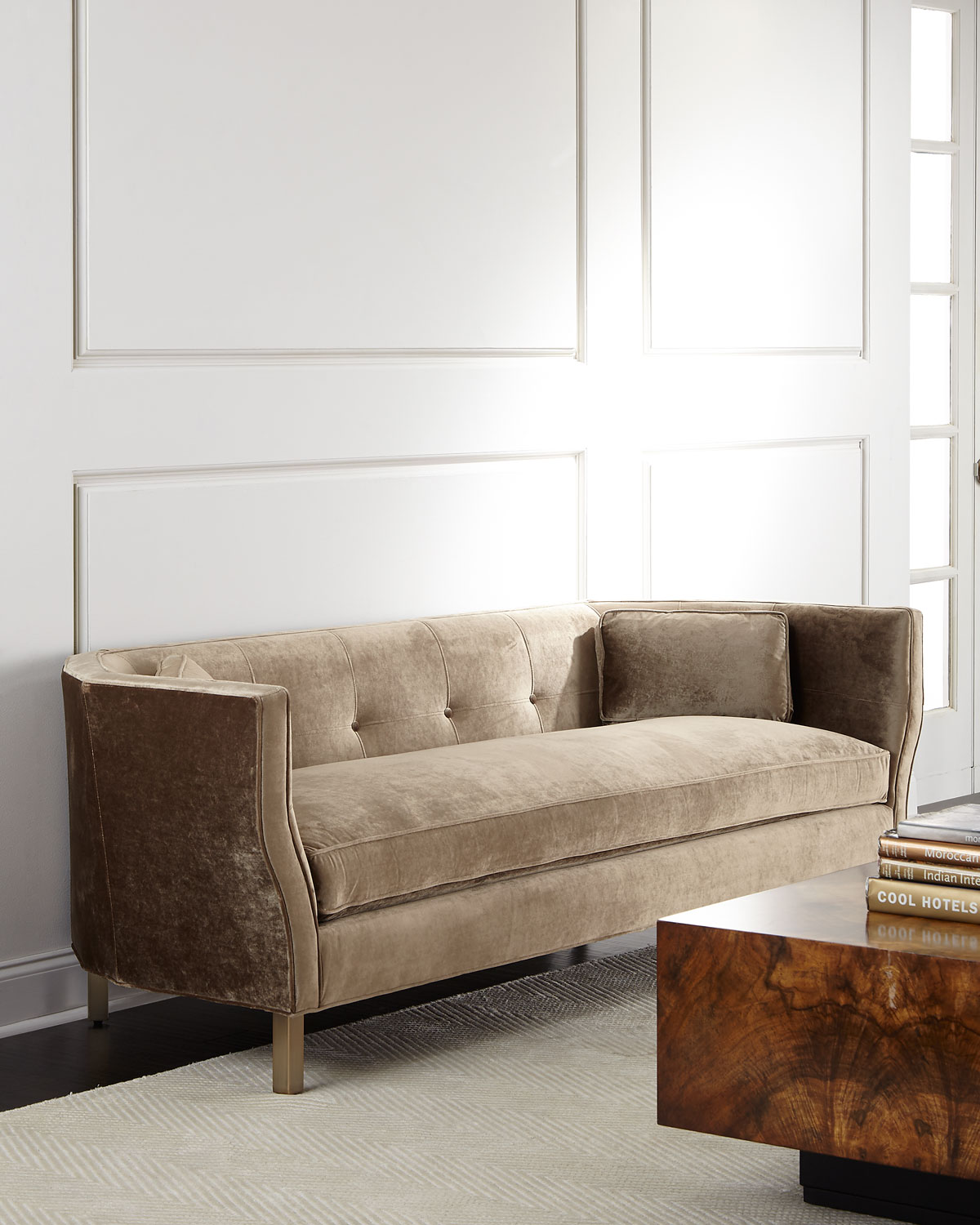 tufted button sofa latest wooden set images betsey 84 neiman marcus