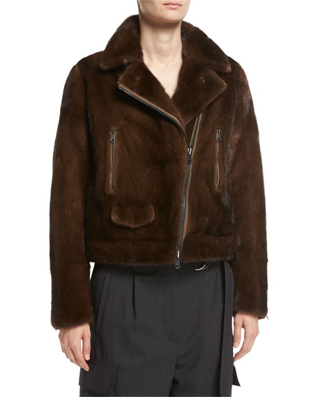 Reversible Mink Fur Moto Jacket