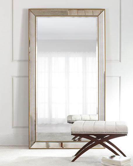 Aldina GoldenBeaded Floor Mirror  Neiman Marcus