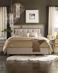 Hooker Furniture Ilyse Mirrored Bedroom Furniture ...