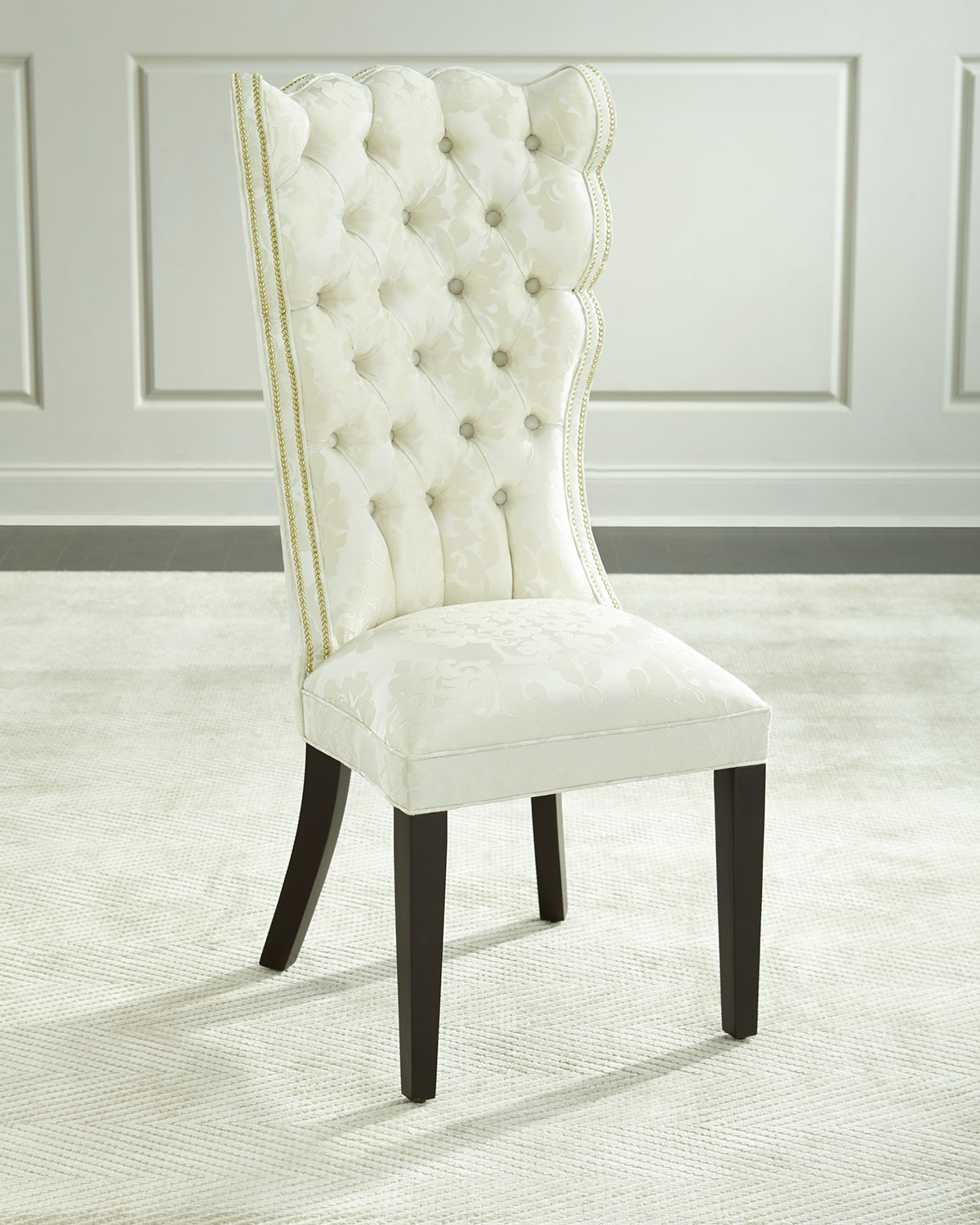 Damask Dining Chair Pantages Damask Dining Chair Ivory