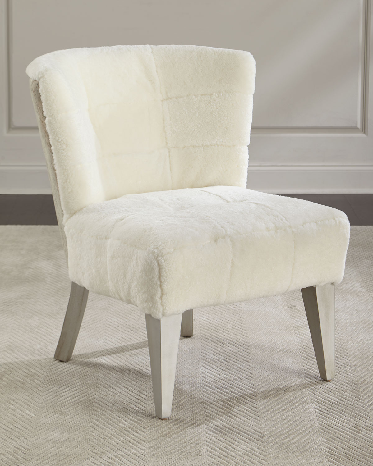 accent chairs under 50 dollars wrought iron chair cushions outdoor massoud paulette shearling neiman marcus