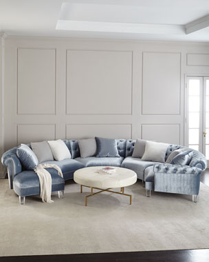 images of grey living room furniture rooms with sectionals luxury at neiman marcus haute house varianne curved sectional sofa