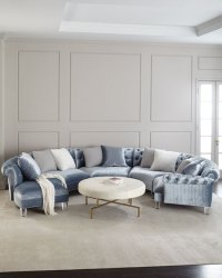 Haute House Varianne Curved Sectional Sofa | Neiman Marcus