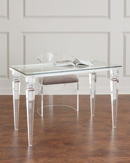 Interlude Home Christelle Acrylic Writing Desk  Neiman Marcus