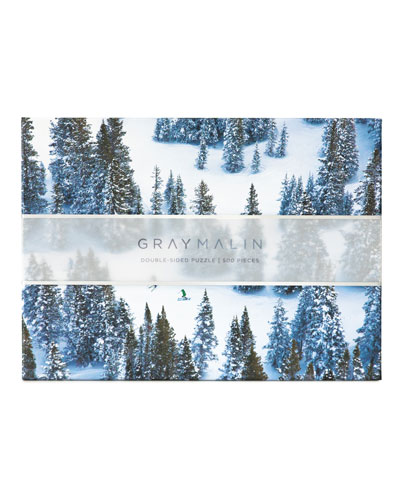"Gray Malin ""Snow"" Double-Sided Jigsaw Puzzle"