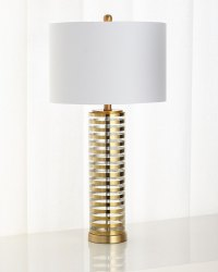 Old Striped Glass Table Lamp | Neiman Marcus