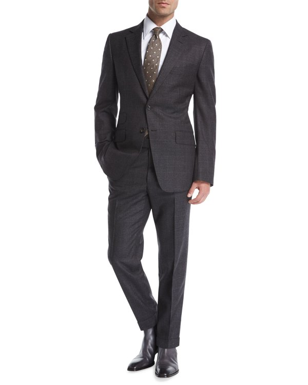 Tom Ford 'connor Base Tonal Plaid Wool Two-piece Suit Neiman Marcus