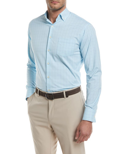 Peter Millar McConnell Glen Plaid Performance Sport Shirt