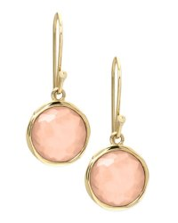 Ippolita Peach Moonstone Drop Earrings