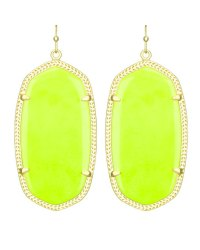 Kendra Scott Danielle Earrings, Neon Yellow