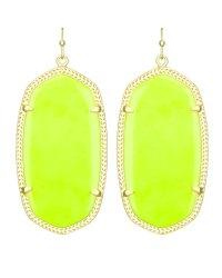 Kendra Scott Danielle Earrings, Neon Yellow